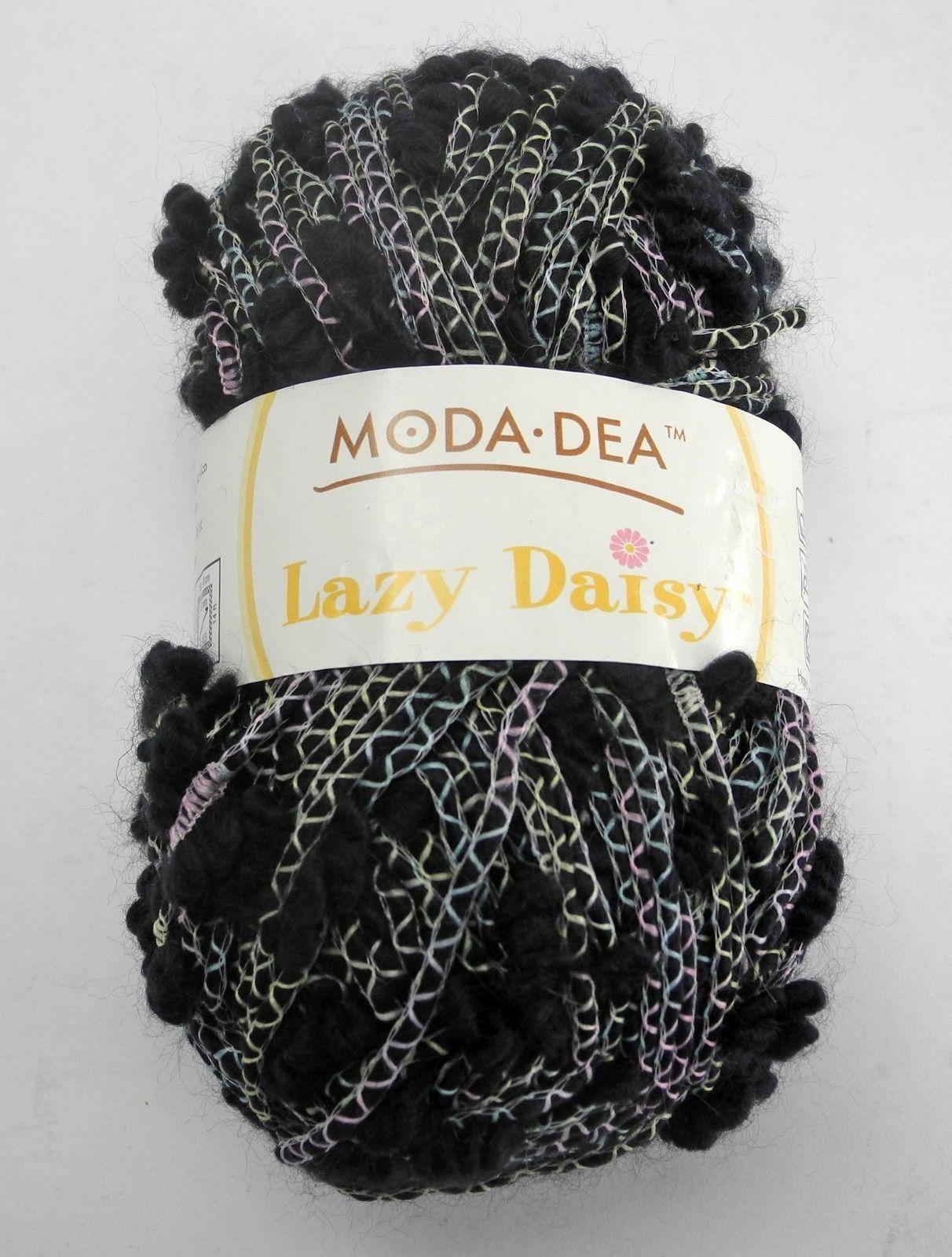Moda Dea Lazy Daisy Yarn - 1 Skein - Color Wavy Navy #3861