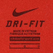 Nike Dri-Fit Men's Red Crew Neck Athletic Training Shirt Size L 384407-657 image 4