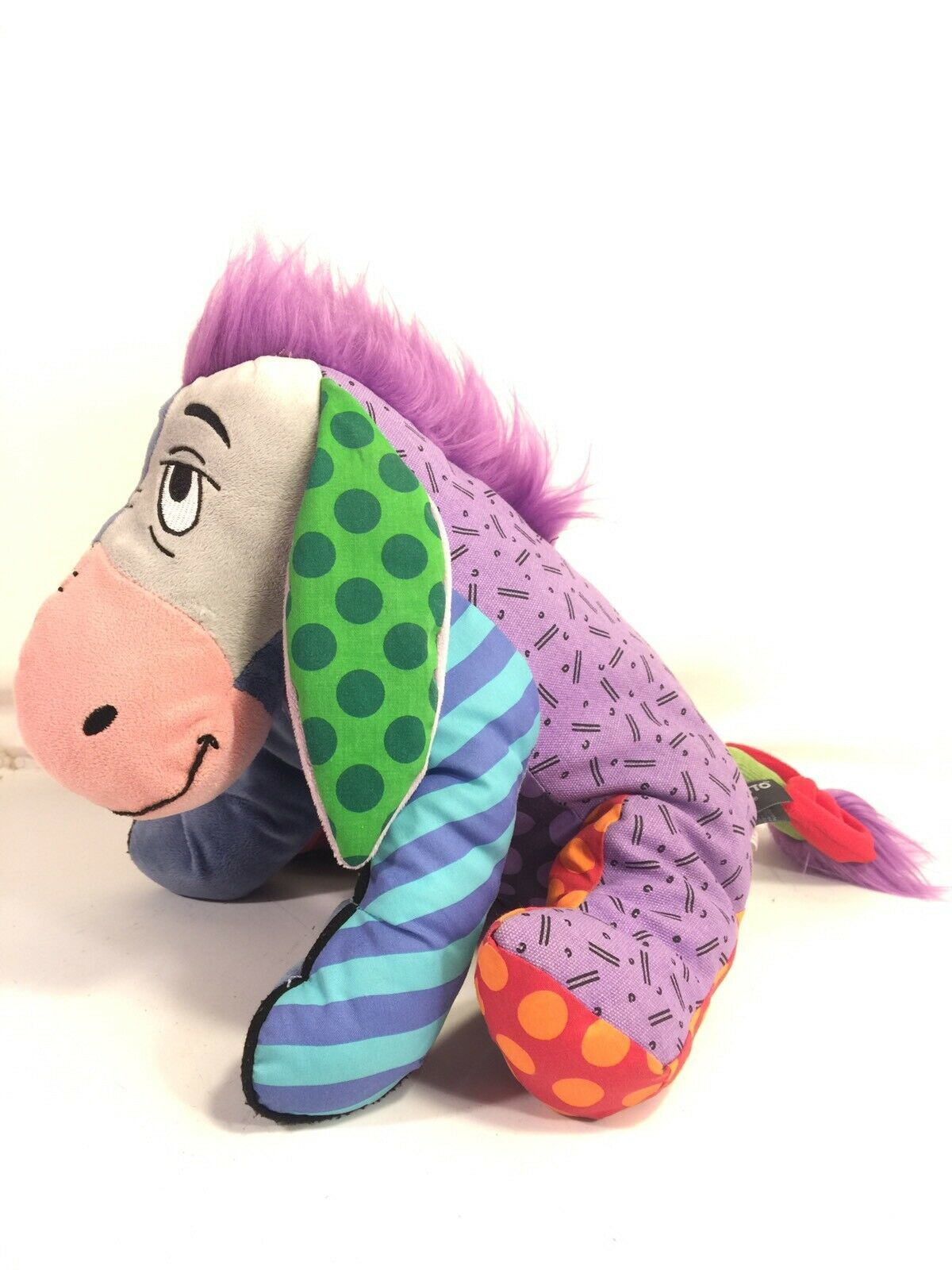 Primary image for Disney Britto Eeyore Plush Rare Enesco Art Design