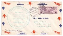 1932 AM 34 Glendale CA Change of Schedule Air Mail Pilot signed C. Janus - $12.50