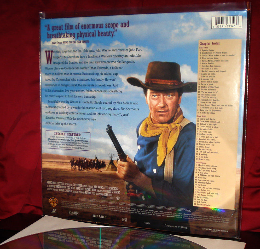 'THE SEARCHERS' - Last and BEST WS LaserDisc of John WAYNE Gem - For Collectors
