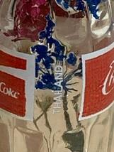 Thailand Coke Coca-Cola Mini Miniature dried Blue Flowers crystal glass bottle image 5