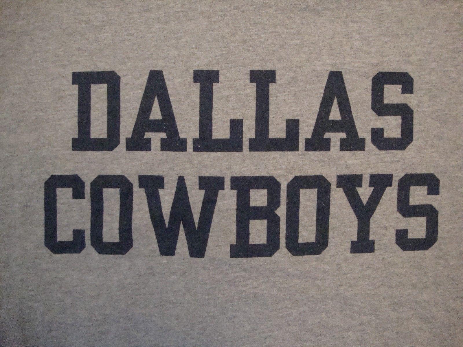 NFL Dallas Cowboys Football Sportswear Fan Apparel Gray Cotton T Shirt Size M