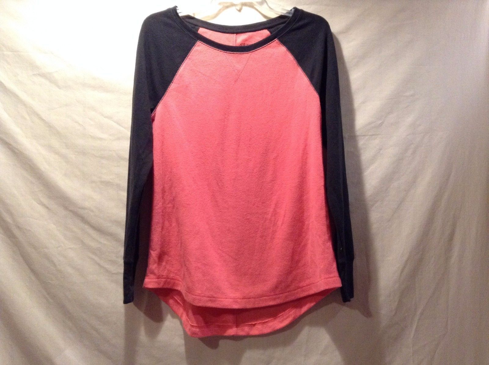 Great Condition Xhilaration Medium Sleepwear Shirt Pink Black Baseball Cotton