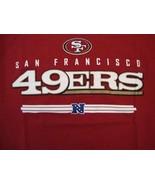 NFL San Francisco 49ers Football Logo Sportswear Fan Apparel Red T Shirt Size M - $15.53