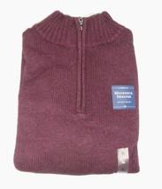 Croft & Barrow Burgundy Wine Color Mock Neck 1/4 Zip Deluxe Sweater XL New - $21.15