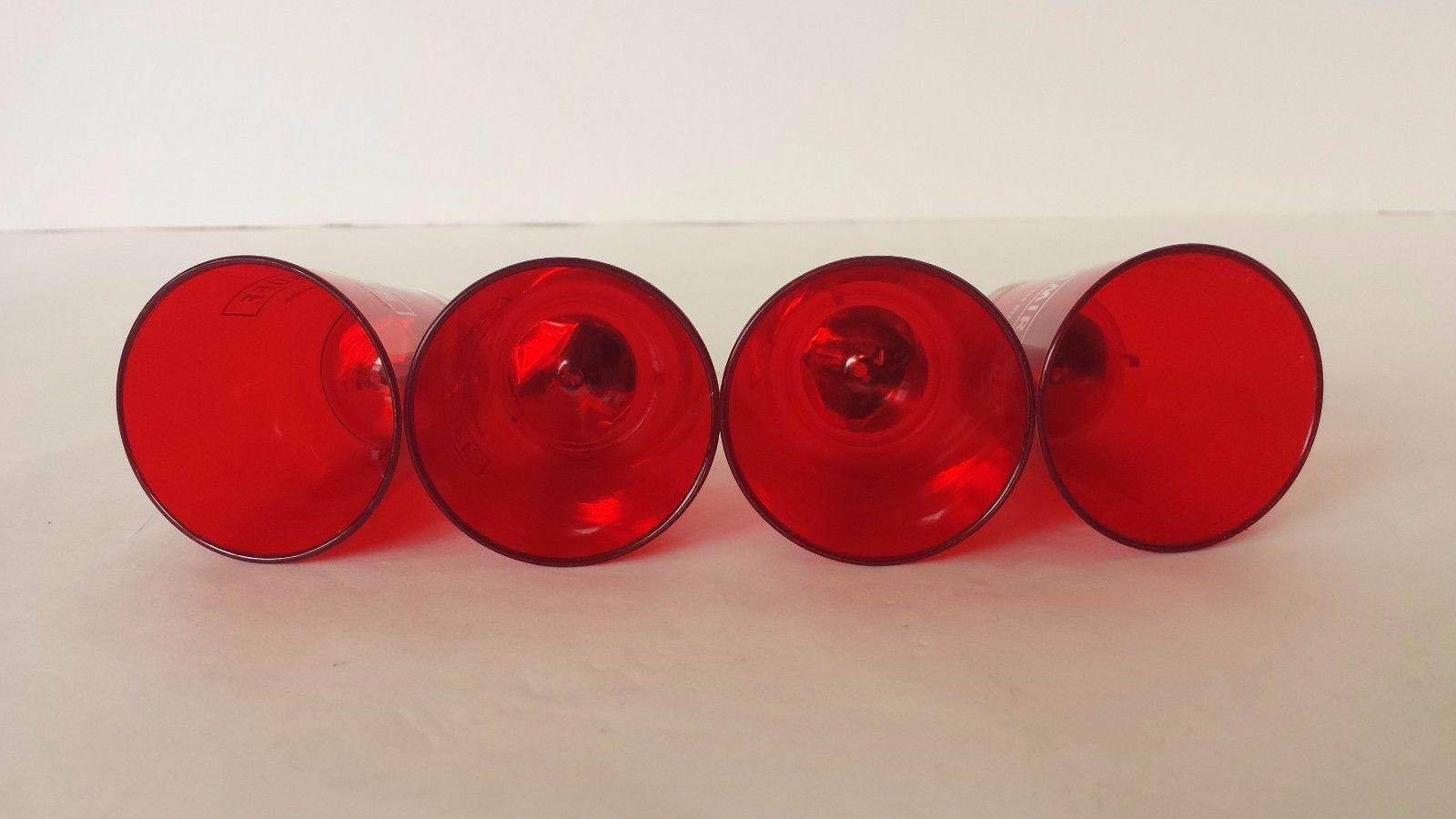 Smirnoff Shot Cup Plastic Red Set of 4