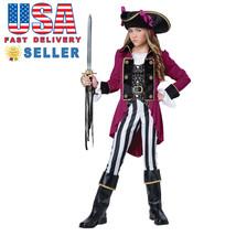 California Costume Fashion Pirate Girl Kid Child Halloween Cosplay 04089 - $40.00