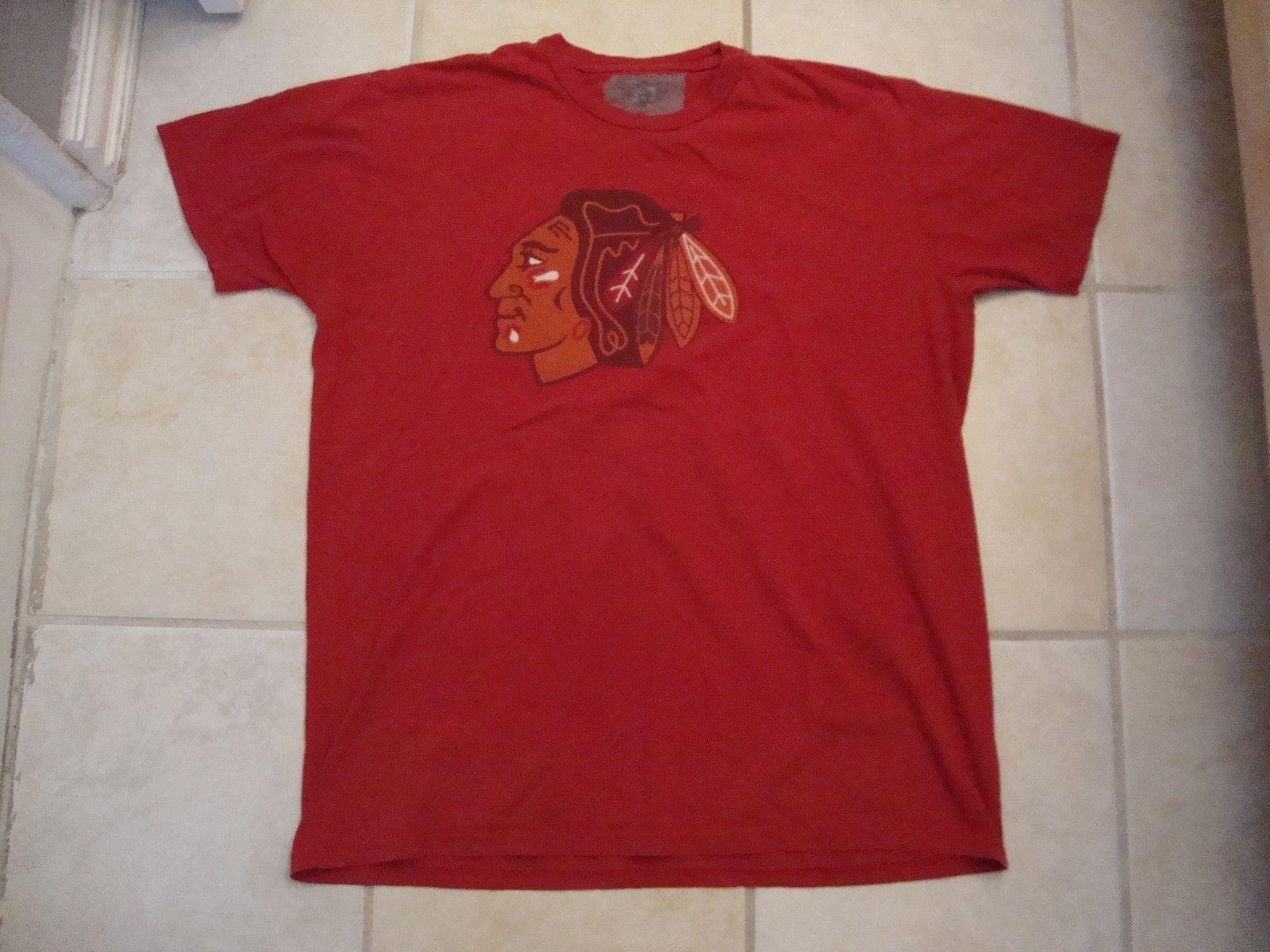 NHL Chicago Blackhawks Sportswear Fan Apparel Red Cotton T Shirt Size XL