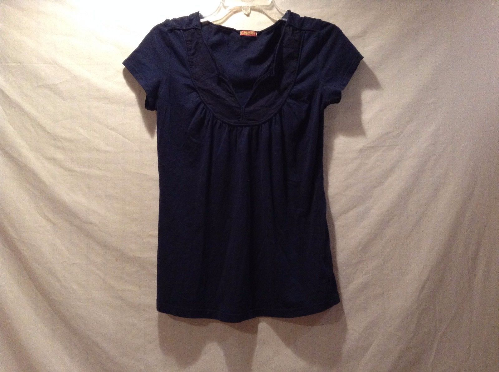 Great Condition Zooey Large 100% Supima Cotton Navy Blue Blouse