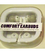 Vibe Comfort White Earbuds Gel Ipod Stereo Headphones - $9.79