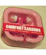 Vibe Comfort Pink Earbuds Gel Ipod Stereo Headphones - $11.75