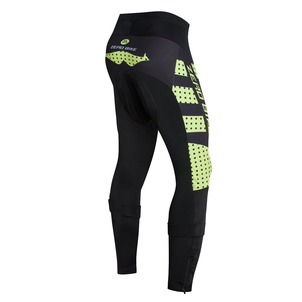 ZEROBIKE Fleece Thermal Windproof Running Cycling Tight 3D Gel Padded Long Pa...