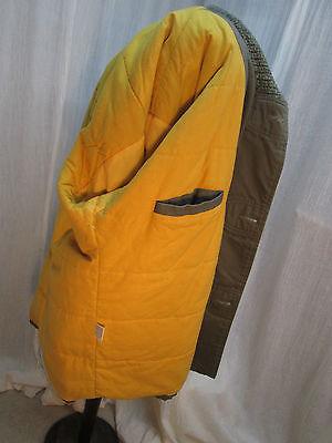 C204 Men's Khaki Heavy Cotton Winter Coat Field Jacket Faux Bone Toggles XL