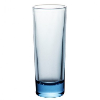 2 oz tall light blue barconic shot glass 1
