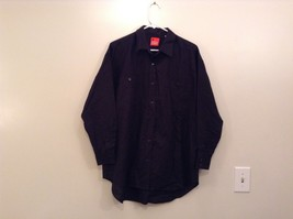 Long Sleeve Size M Liz and Company Black Button Up Shirt Cotton and Linen Blend
