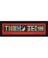 Texas Tech University Red Raiders 8 x 24 Framed... - $39.45
