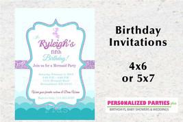 Mermaid invitations | Mermaid birthday invitations | Under the sea birth... - $8.99