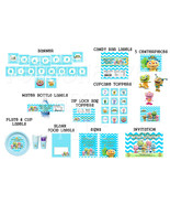 Henry Hugglemonster birthday party pack: banner, cupcake toppers, water ... - $24.99