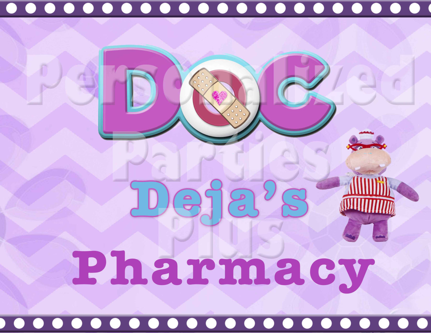 Doc McStuffins pharmacy sign: Downloadable & Printable
