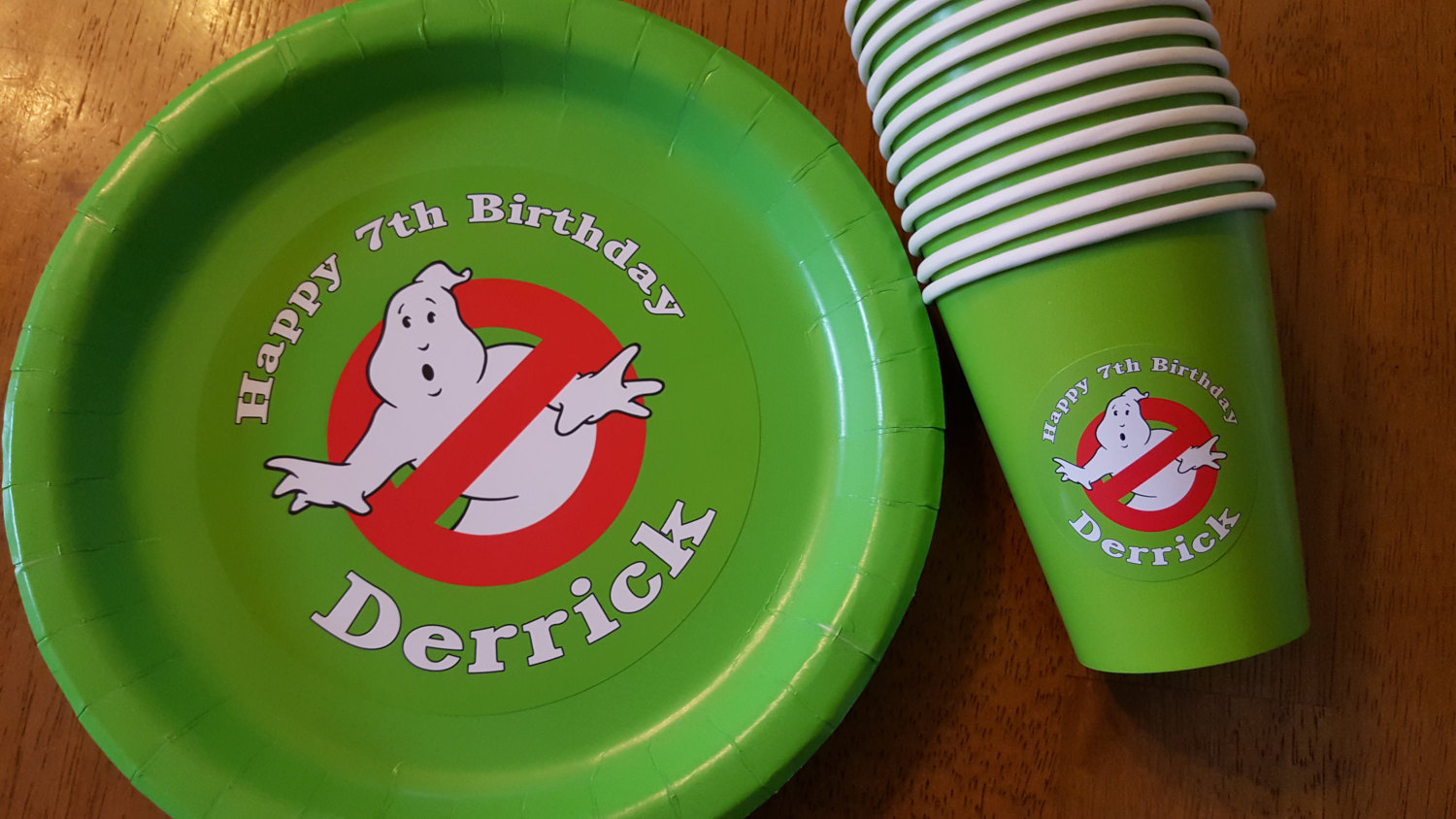 Ghostbusters plates and cups | Ghostbutsters birthday plates and cups