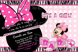 Baby Minnie Mouse Baby Shower Invitation Downloaded and printable - $9.99