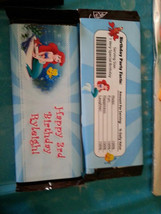The Little Mermaid candy bar wrappers - $4.00