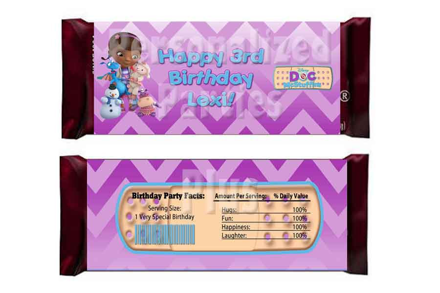 Doc McStuffins Candy Bar Wrappers: Downloadable & Printable