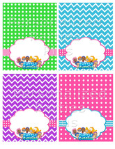 Bubble Guppies food tents for Birthday Party: Instant Download - $2.50