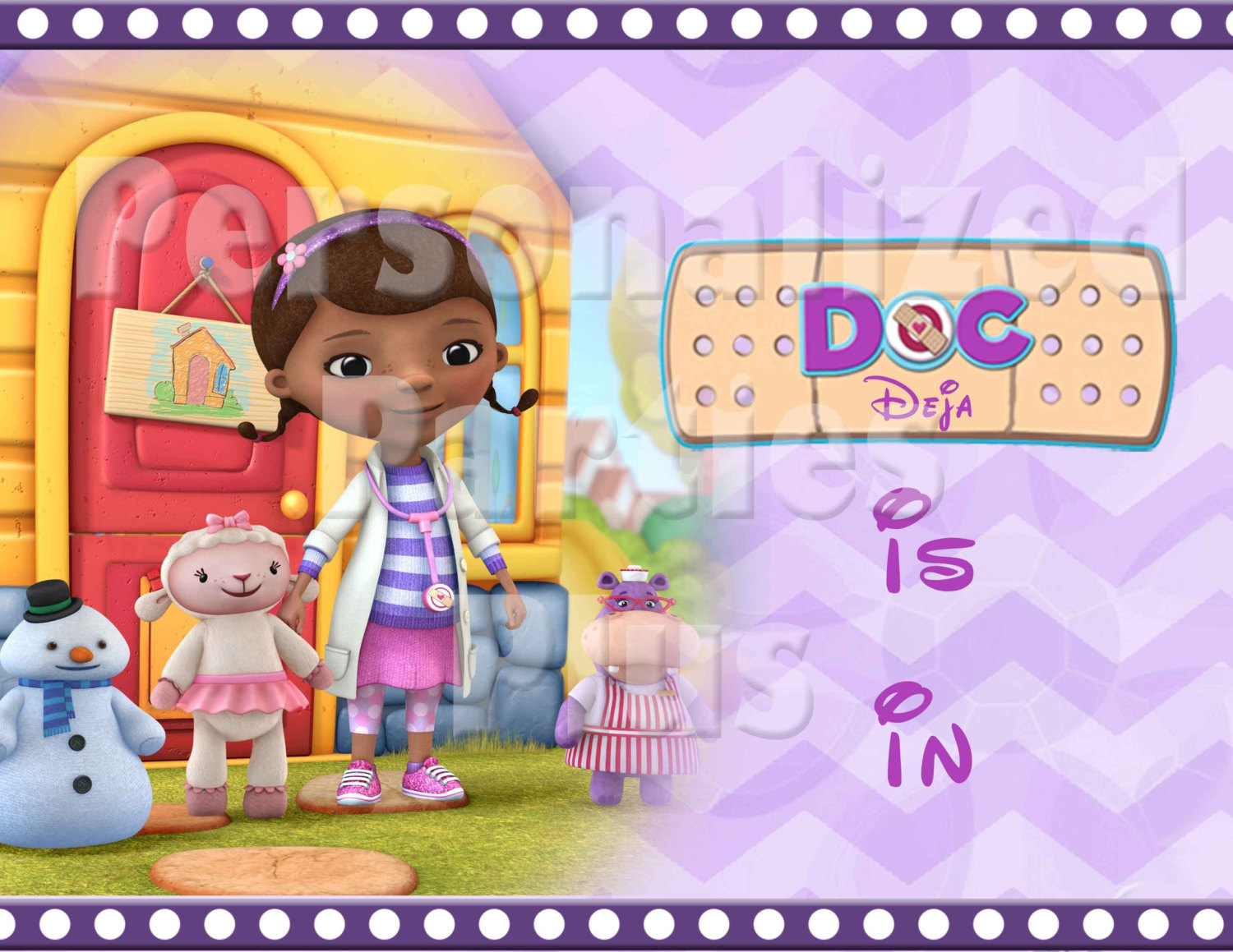 Doc McStuffins the doc is in birthday Sign: Downloadable & Printable