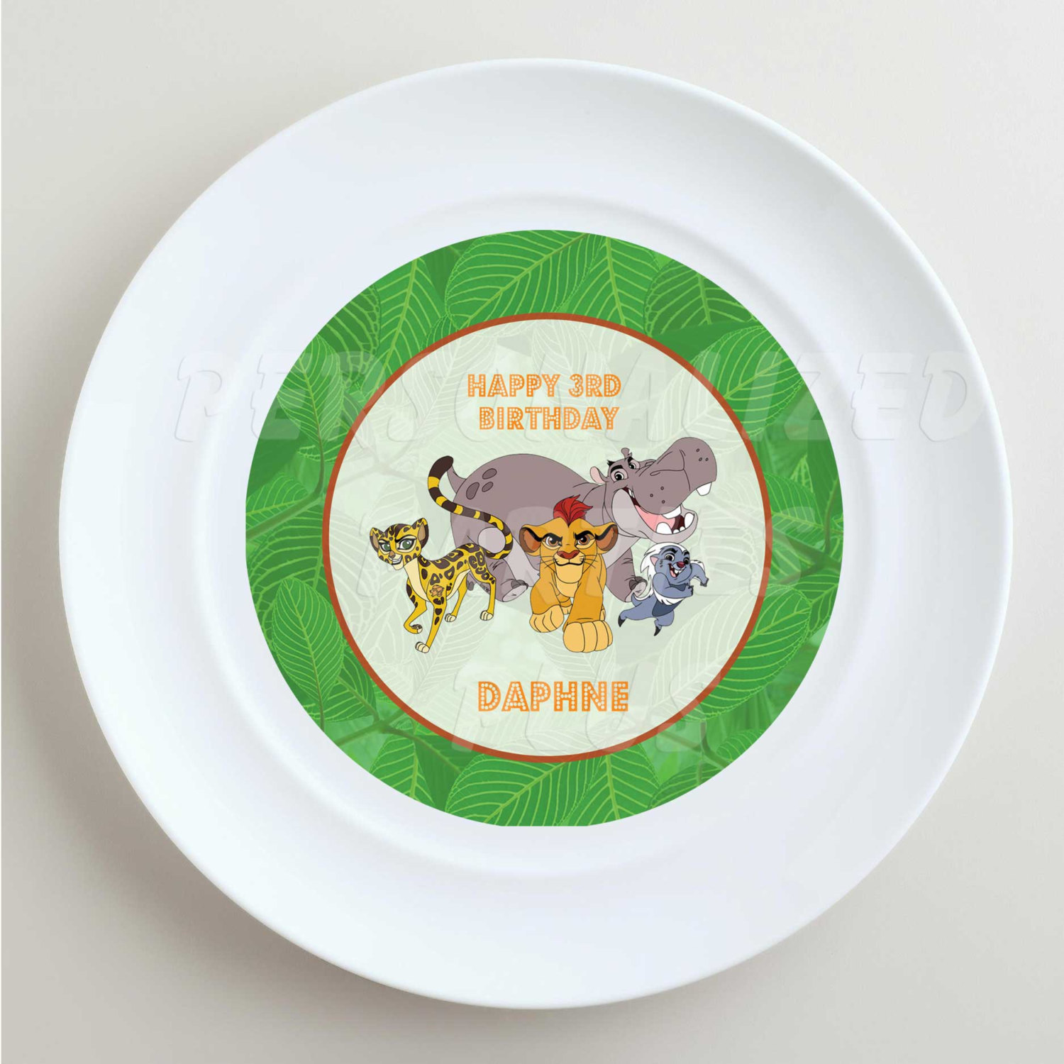 Lion Guard plate labels, cup labels and treat bag labels | DIY Lion Guard Sticke