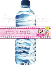 Minnie Mouse & Daisy Duck baby shower water bot... - $2.50