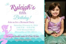 Mermaid birthday invitations | Under the sea birthday invites - $8.99
