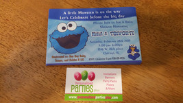 Cookie Monster Baby Shower Invitation - $8.99