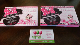 Minnie Mouse Baby Shower Invitation   Minnie Mouse baby shower invitations - $9.99