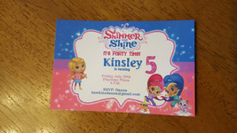 Shimmer and Shine Invitations | Shimmer and shine invite | Genie birthda... - $29.99