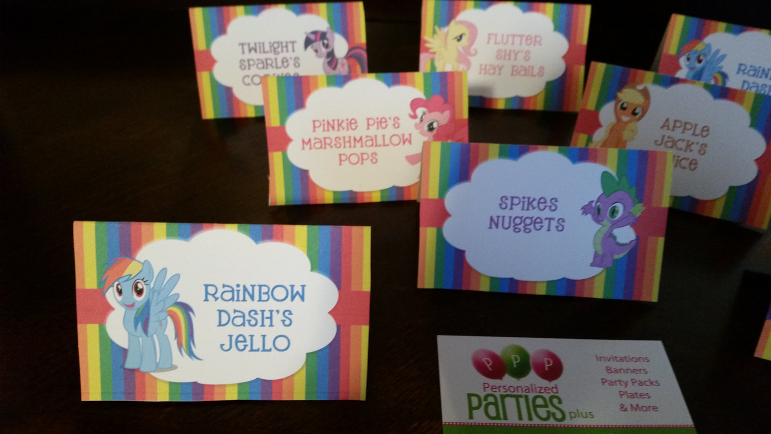 My little pony food tents