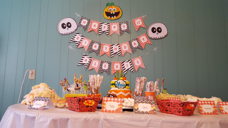 Halloween banner | Halloween birthday banner | Orange and black banner