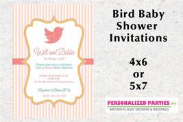 Bird Baby Shower invitation | Girl baby shower invitations - $8.99