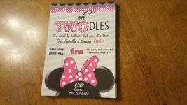 Minnie Mouse birthday Invitation | Minnie Mouse second birthday invitations - $8.99