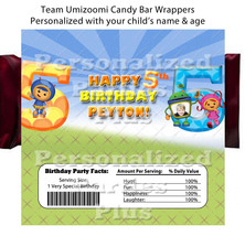 Team Umizoomi Candy Bar Wrappers: Downloadable & Printable - $4.00