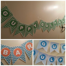 Guppy Gulp bar banner is perfect for your Bubble Guppie birthday party - $15.00