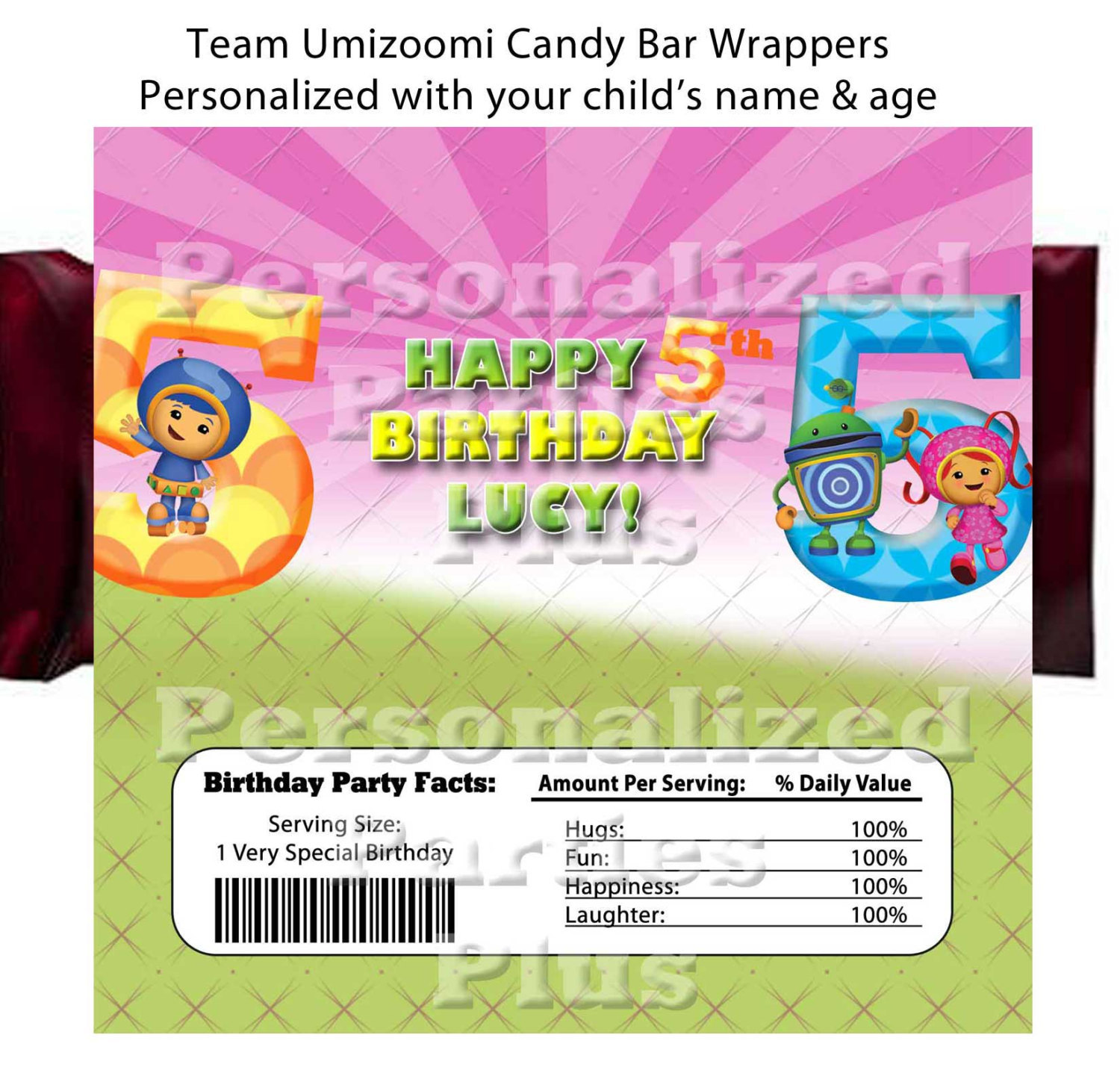Team Umizoomi Candy Bar Wrappers: Downloadable & Printable
