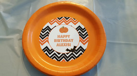 Halloween plates and cups | birthday plates | Halloween birthday plates - $39.99