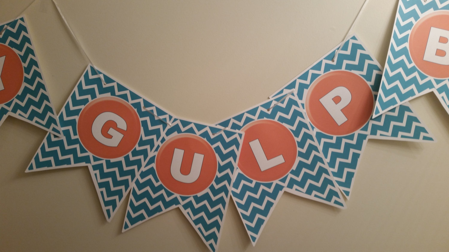 Guppy Gulp bar banner is perfect for your Bubble Guppie birthday party