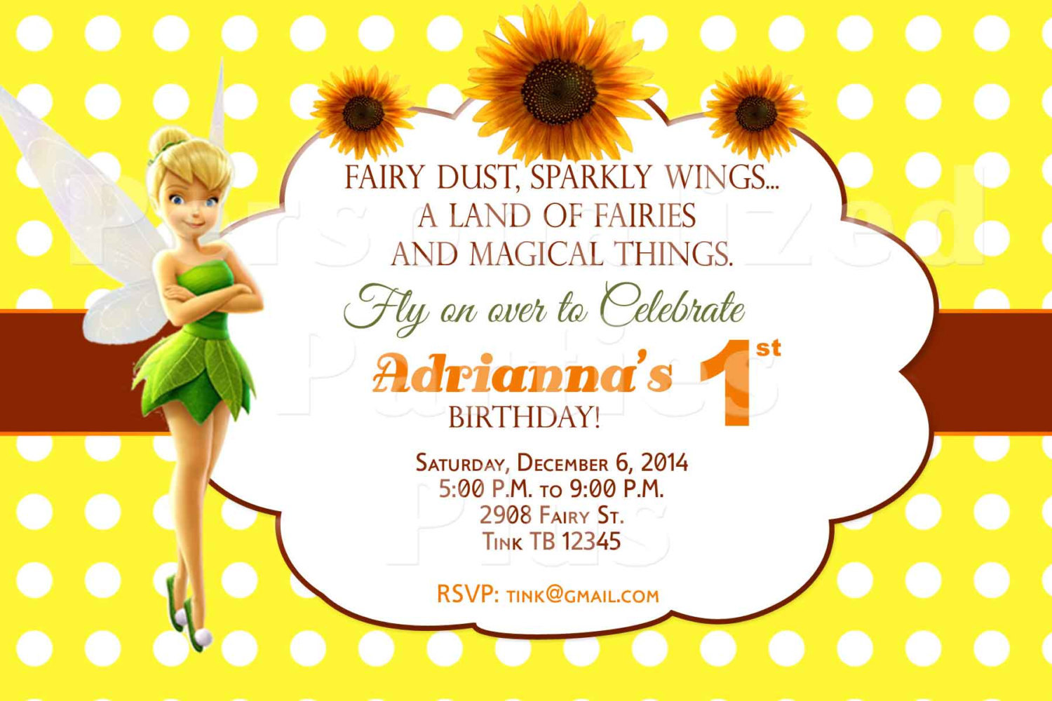 Tinkerbell birthday invitations and 50 similar items