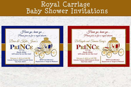 Little Prince carriage baby shower invitation - $8.99