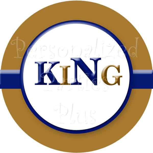 """SALE: Royal King baby shower party kit with banner, signs, food tents, 2"""" labels"""