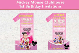 Mickey Mouse first birthday invitation - $8.99