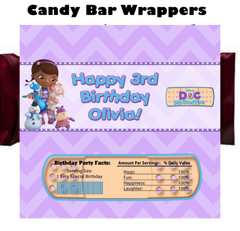 Doc McStuffins Candy Bar Wrappers